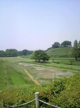 稲荷山古墳からの眺め